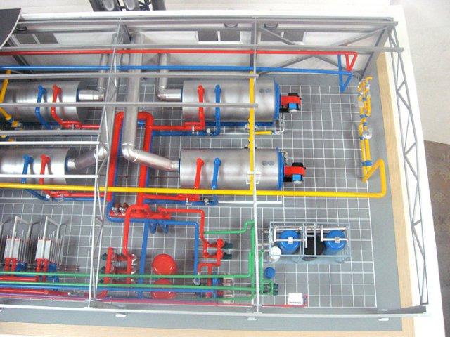 маркировка оборудования в газовой котельной на предприятии